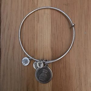 Alex and Ani silver pineapple bangle